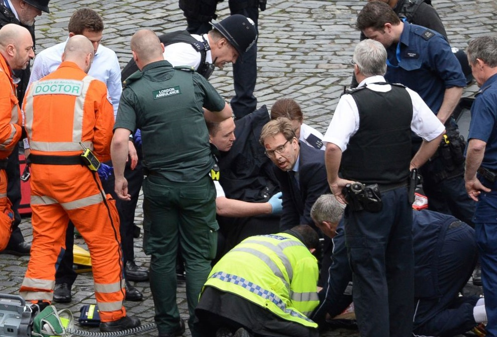L'attaque terroriste de Londres. D. R.