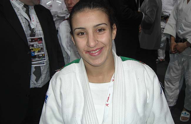 L'Algérienne Meriem Moussa a décroché la médaille en vermeil. D. R.