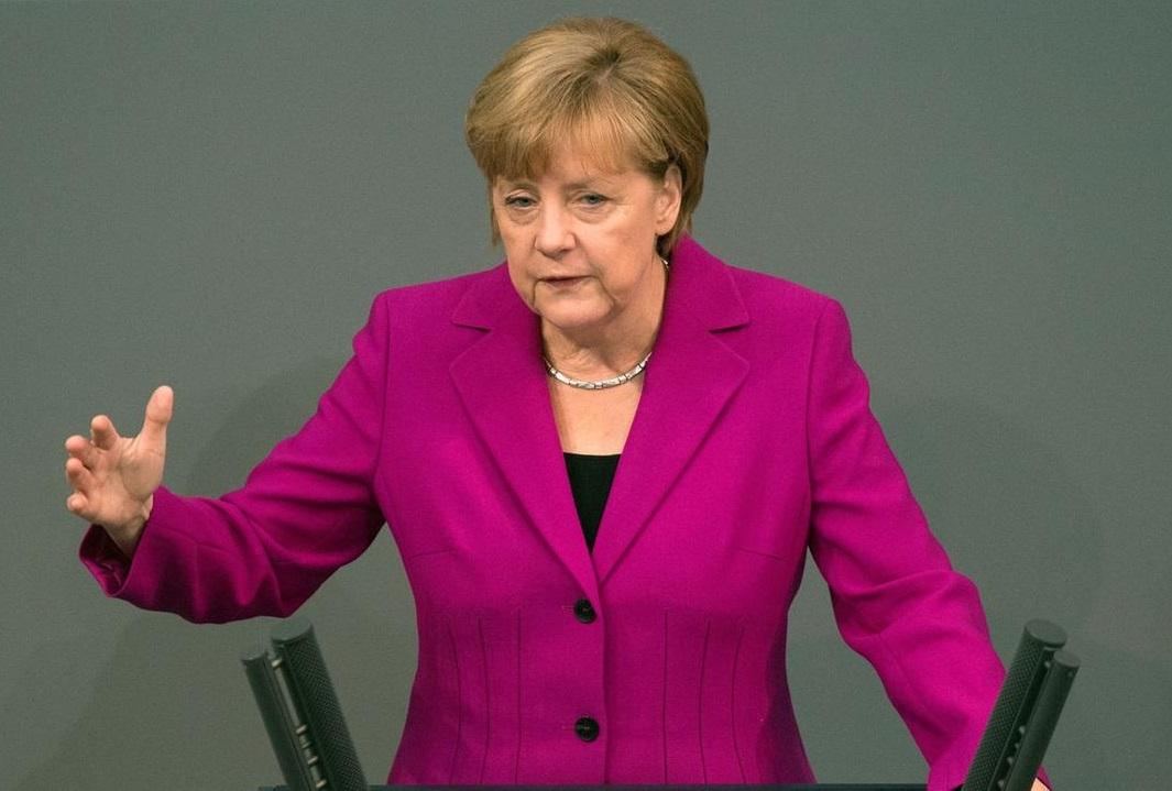 Angela Merkel au Bundestag. D. R.