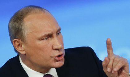 Poutine : «Deux versions sur l'attaque chimique en Syrie»