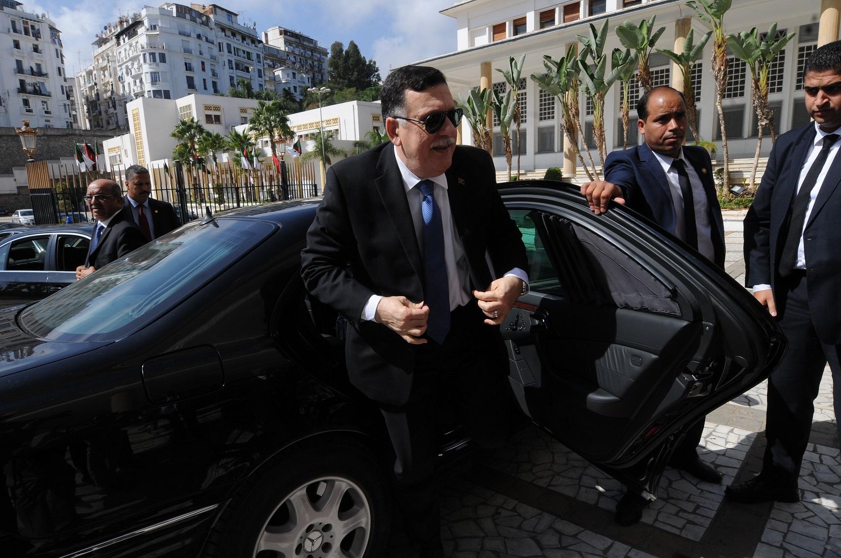 Al-Sarraj à Alger en octobre 2016. New Press