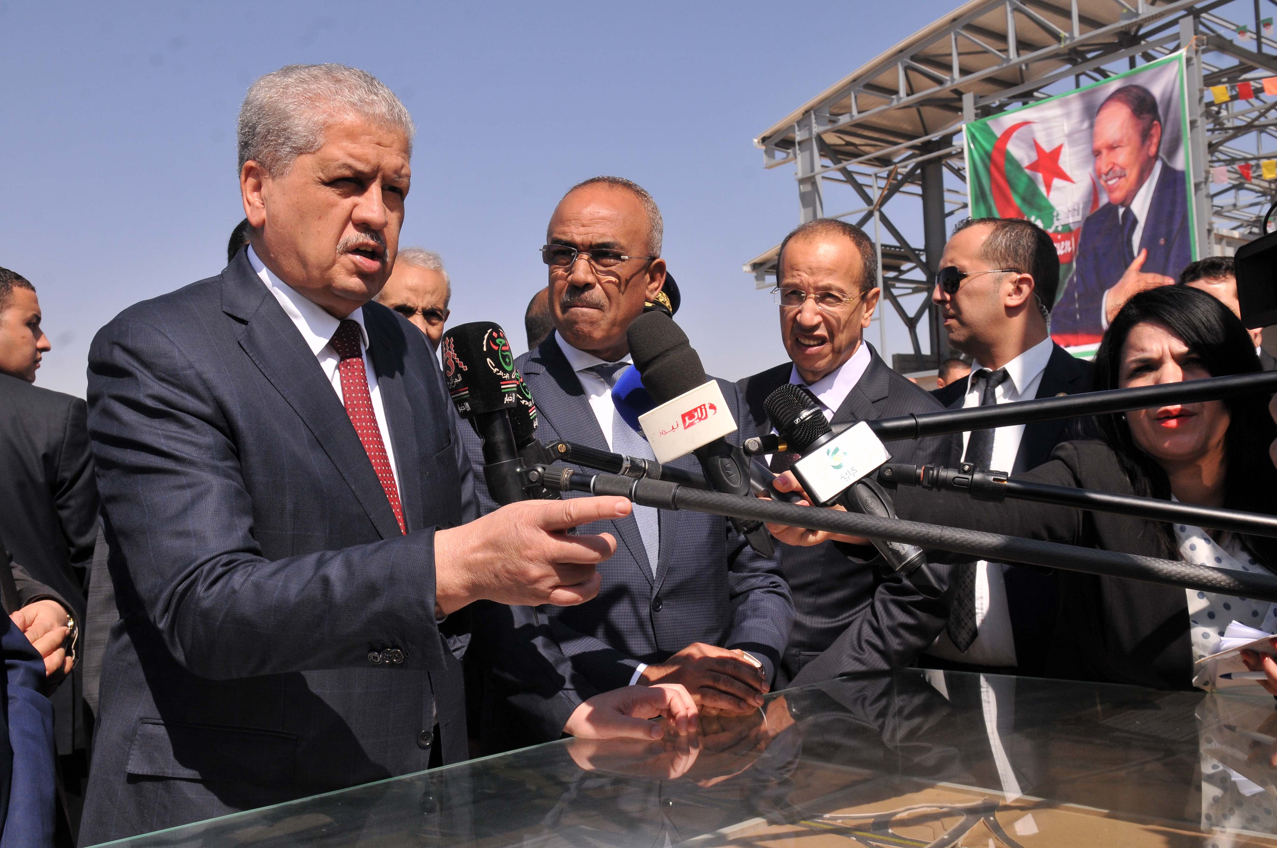 Le Premier ministre Abdelmalek Sellal dernièrement à Djelfa. New Press