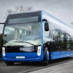 Alstom a récemment lancé le bus électrique «Aptis» inspiré du tramway. D. R.