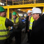 Abdessalem Bouchouareb lors d'une visite au complexe de Bellara. New Press