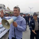 Sit-in des travailleurs de Cevital ce jeudi. AP