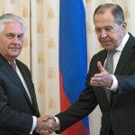 Rex Tillerson reçu par Sergueï Lavrov. D. R.