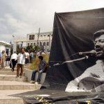 Le RCD est accusé de vouloir utiliser l'image de Matoub à des fins électoralistes. New Press