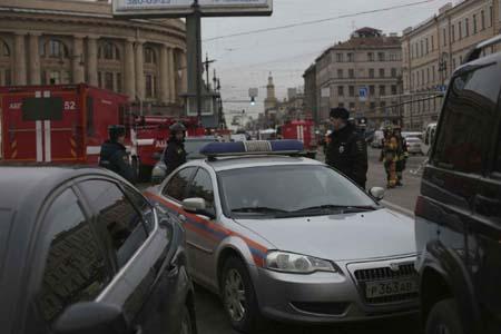 Scène de l'attentat du métro de Saint-Pétersbourg, en Russie. D. R.