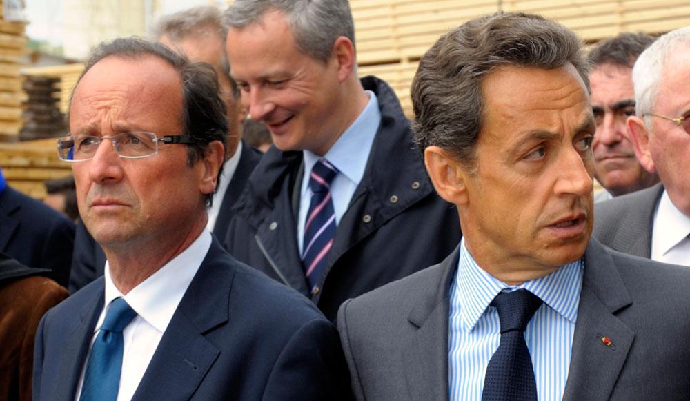 François Hollande et Nicolas Sarkozy. D. R.