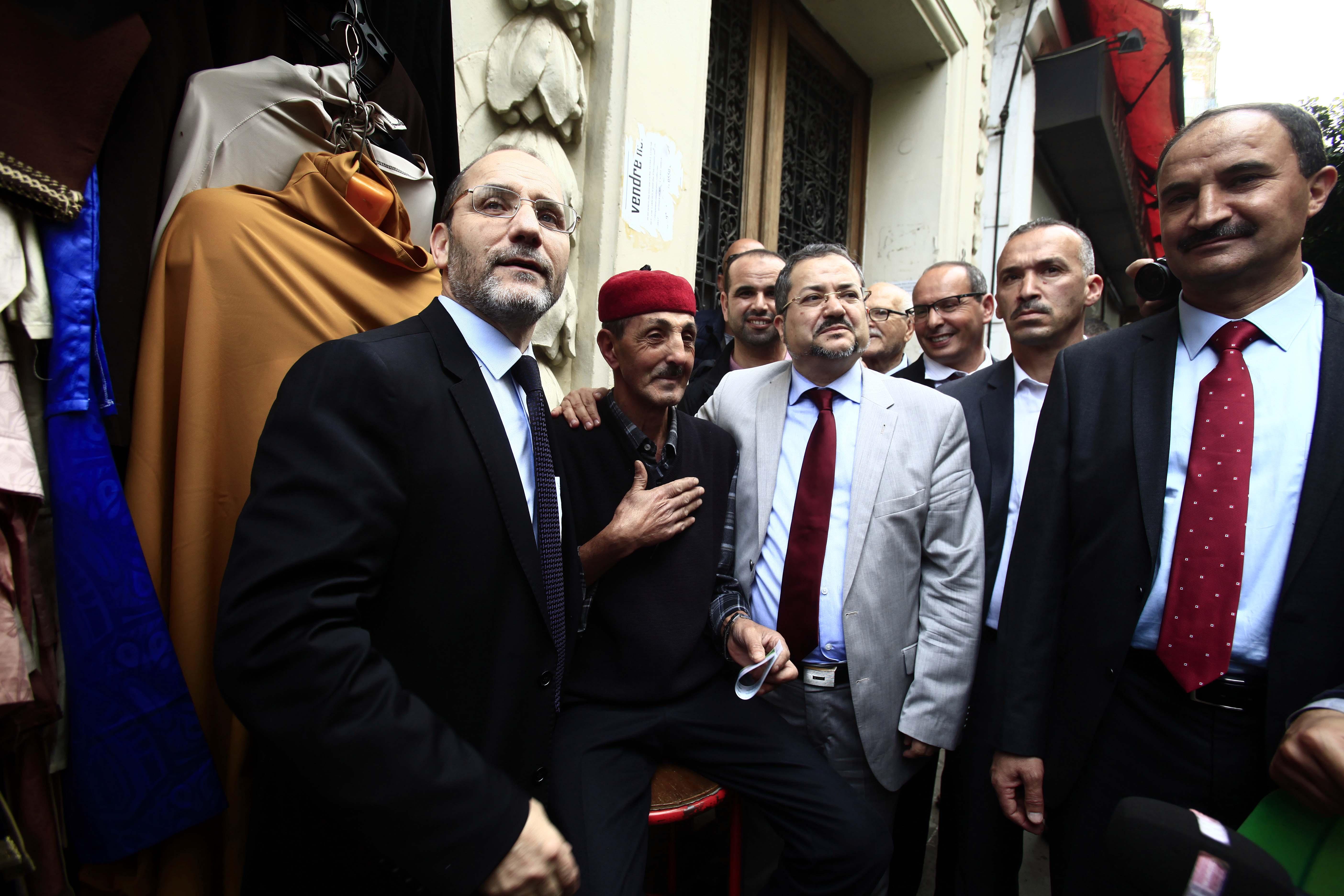 Abderrezak Mokri lors de la campagne pour les législatives. New Press