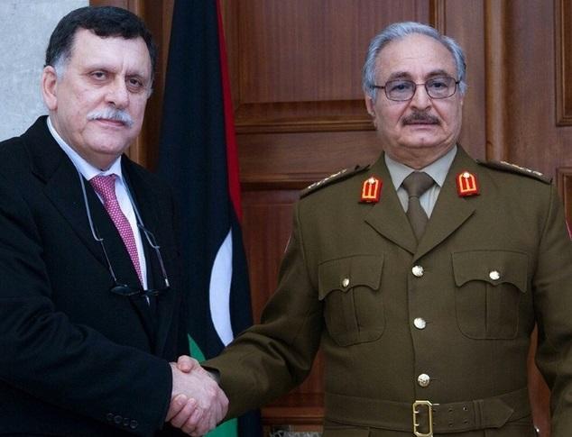 Fayez Al-Sarraj et Khalifa Haftar. D. R.