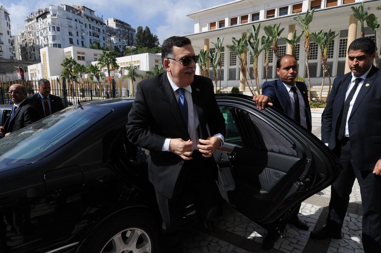 Fayez Al-Sarraj à Alger. New Press