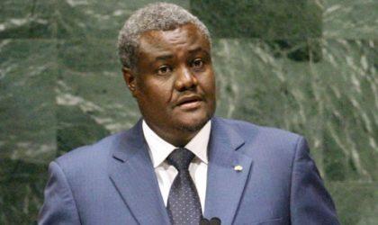 Le président de la Commission de l'UA en visite à Alger