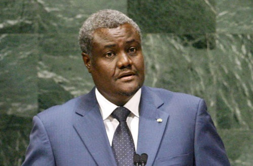 Moussa Faki Mahamat, président de la Commission de l'Union africaine. D. R.