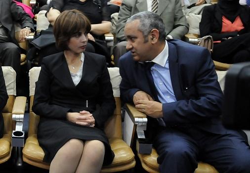 La ministre de la Poste et des TIC avec l'ancien PDG d'Algérie Télécom. New Press