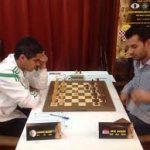 Mohamed Haddouche en compétition. D. R.