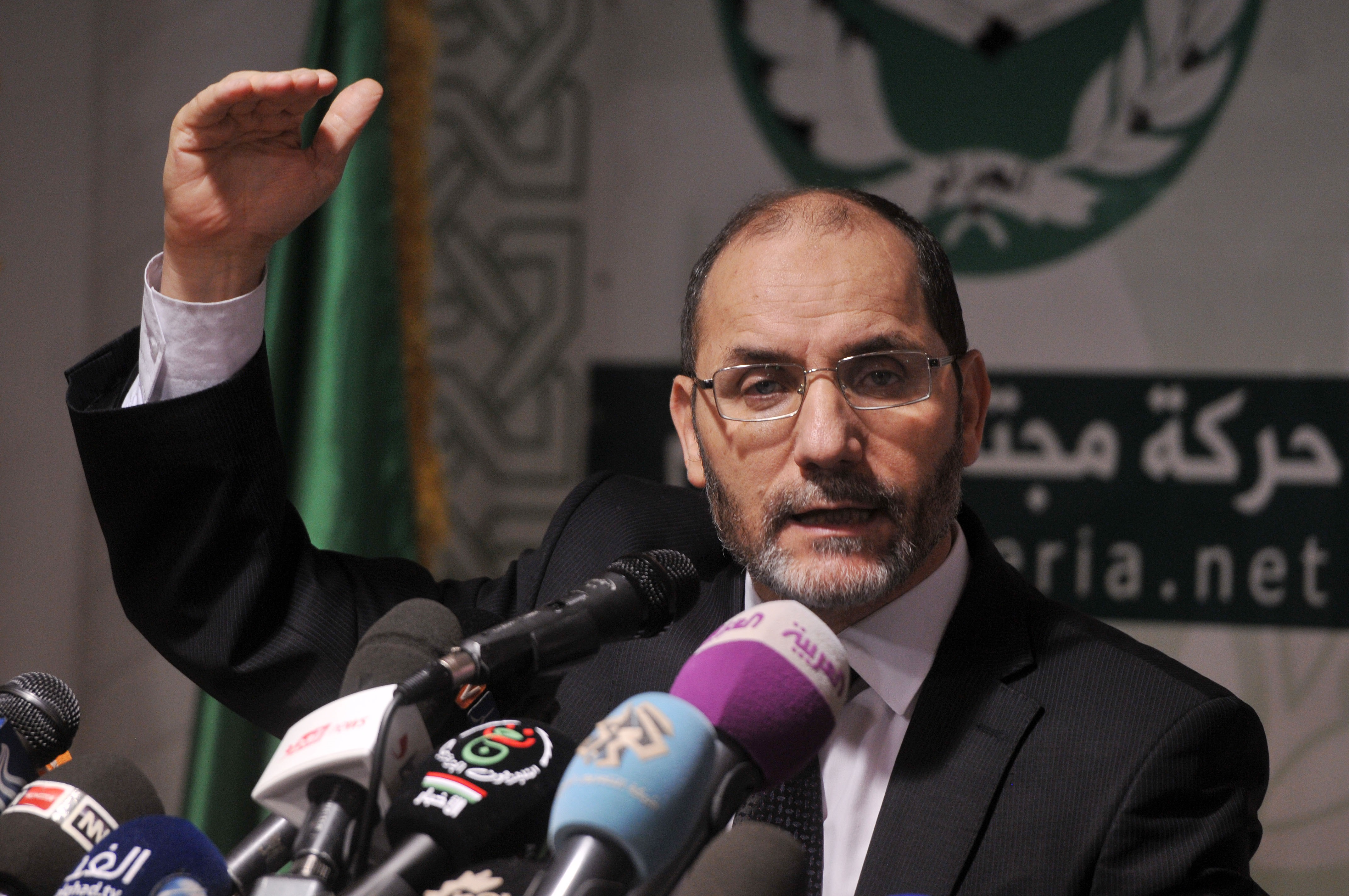 Abderrezak Mokri lors de sa dernière conférence de presse. New Press