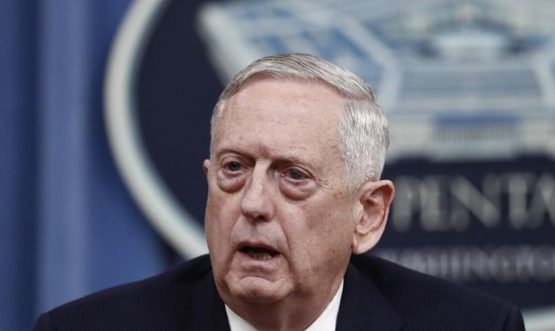 Le secrétaire américain à la Défense Jim Mattis. D. R.
