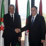 Sellal et  Al-Sarradj lors de sa dernière visite à Alger. New Press