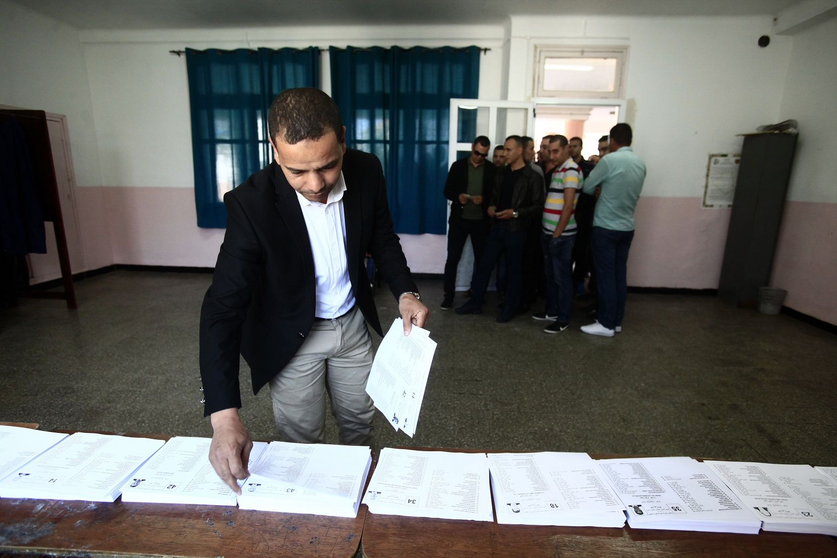 Un bureau de vote à Alger, ce jeudi. New Press
