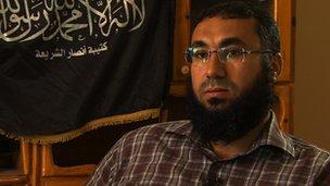 Al-Zahawi, ex-émir du groupe terroriste Ansar al-charia. D. R.