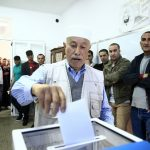 Centre de vote, ce matin à Alger. New Press