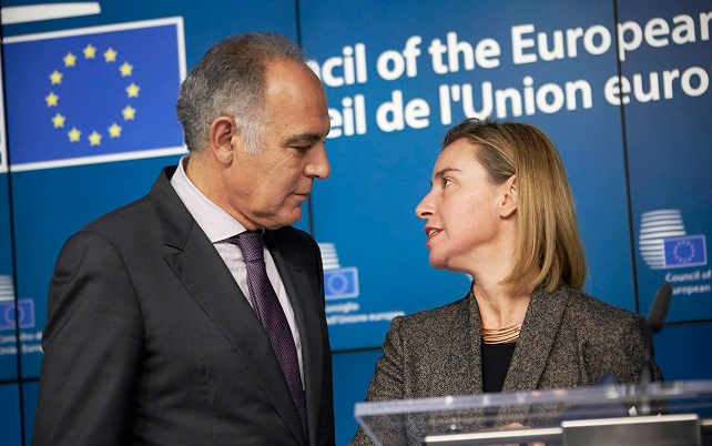 Federica Mogherini et Salaheddine Mezouar, une relation d'exception. D. R.