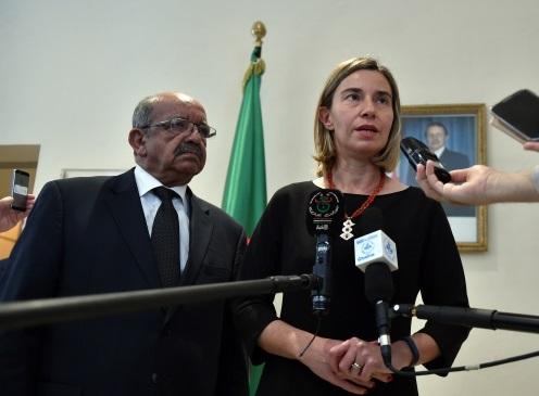 Federica Mogherini et Abdelkader Messahel. D. R.