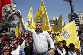 Manifestation de soutien aux prisonniers palestiniens. D. R.