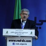 Ahmed Ouyahia lors du conseil national du RND. New Press