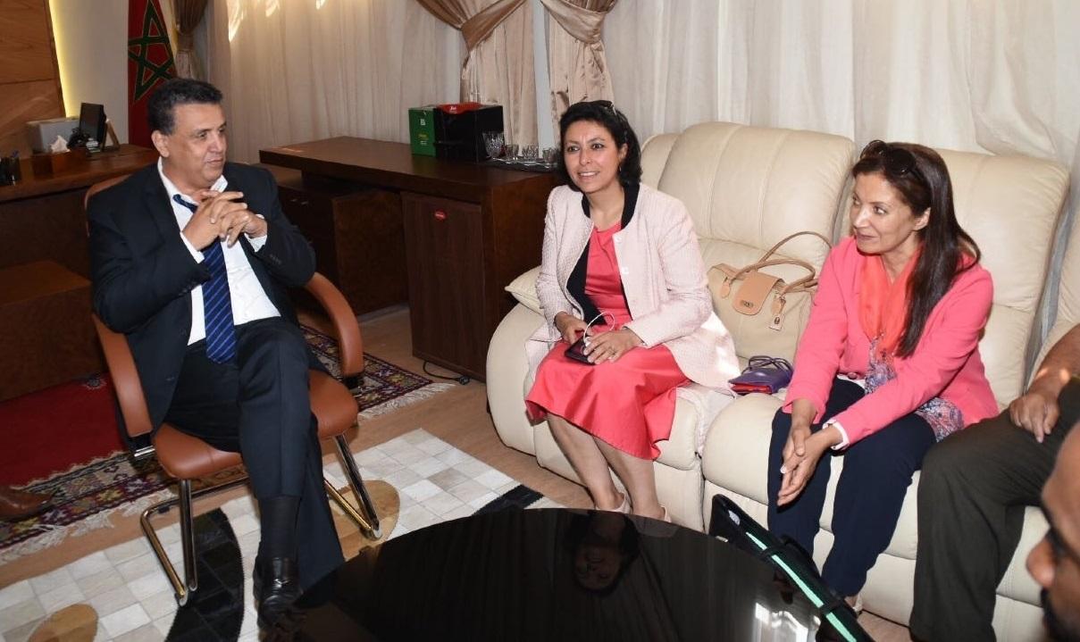Leïla Aïchi avec les dirigeants du PAM. D R.