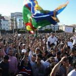 Rassemblement de soutien à Nasser Zefzafi à Al-Hoceïma. D. R.
