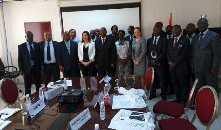 Une délégation du Centre international pour le développement des politiques migratoires. D. R.
