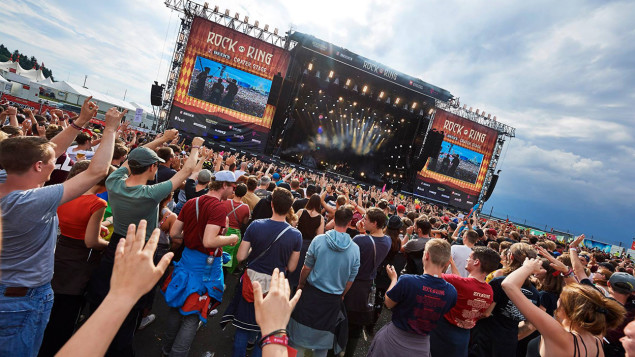 Une vue du festival «Rock am Ring». D. R.