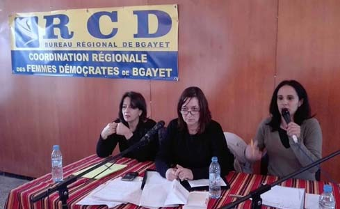 Les Femmes démocrates du RCD dénoncent déjà la politique de Tebboune. D. R.