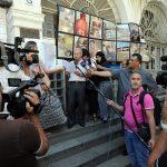 Un sit-in de soutien aux militants sahraouis à Alger. New Press