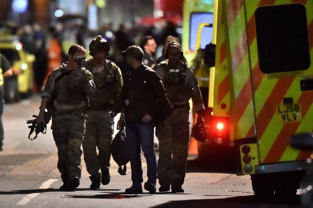 Londres, après l'attaque de ce samedi soir. D. R.