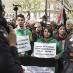 Manifestation de soutien au peuple palestinien organisée par CAPJPO-EuroPalestine. D. R.