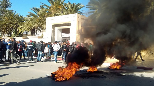 La région de Sidi Bouzid de nouveau secouée par des manifestations. D. R.