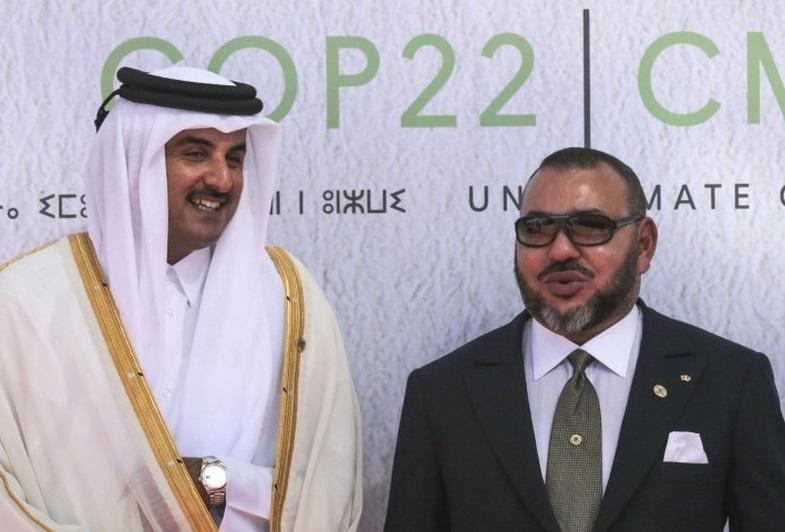 La lune de miel entre le prince du Qatar et Mohammed VI est terminée. D. R.