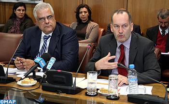 Jean François Dauphin (à droite), chef de mission du FMI pour l'Algérie. D. R.
