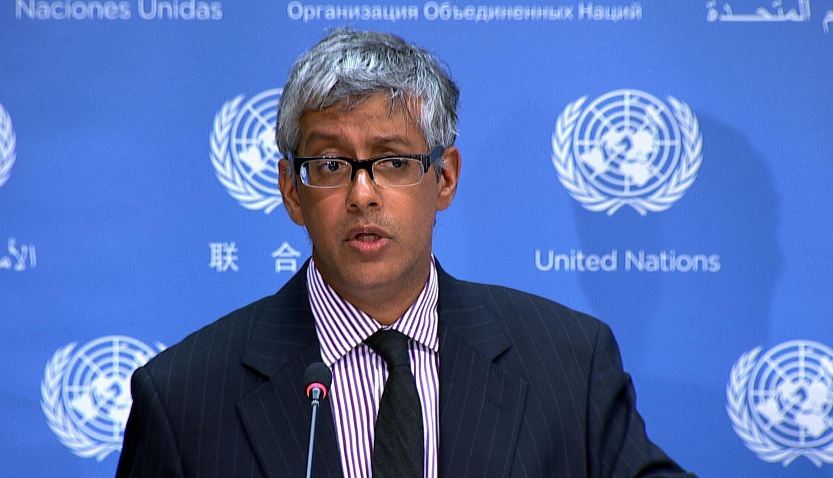 Farhan Haq, porte-parole adjoint du secrétaire général de l'ONU. D. R.
