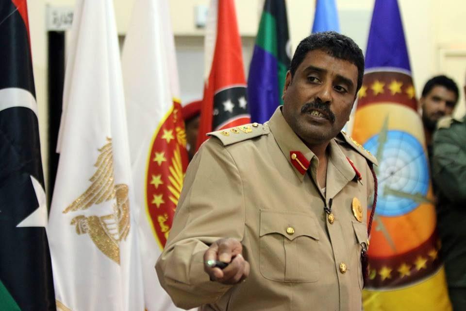 Le colonel Ahmed Al-Mismari, porte-parole de l'armée libyenne. D. R.
