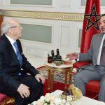Mohammed VI avec le président Essebsi. D. R.