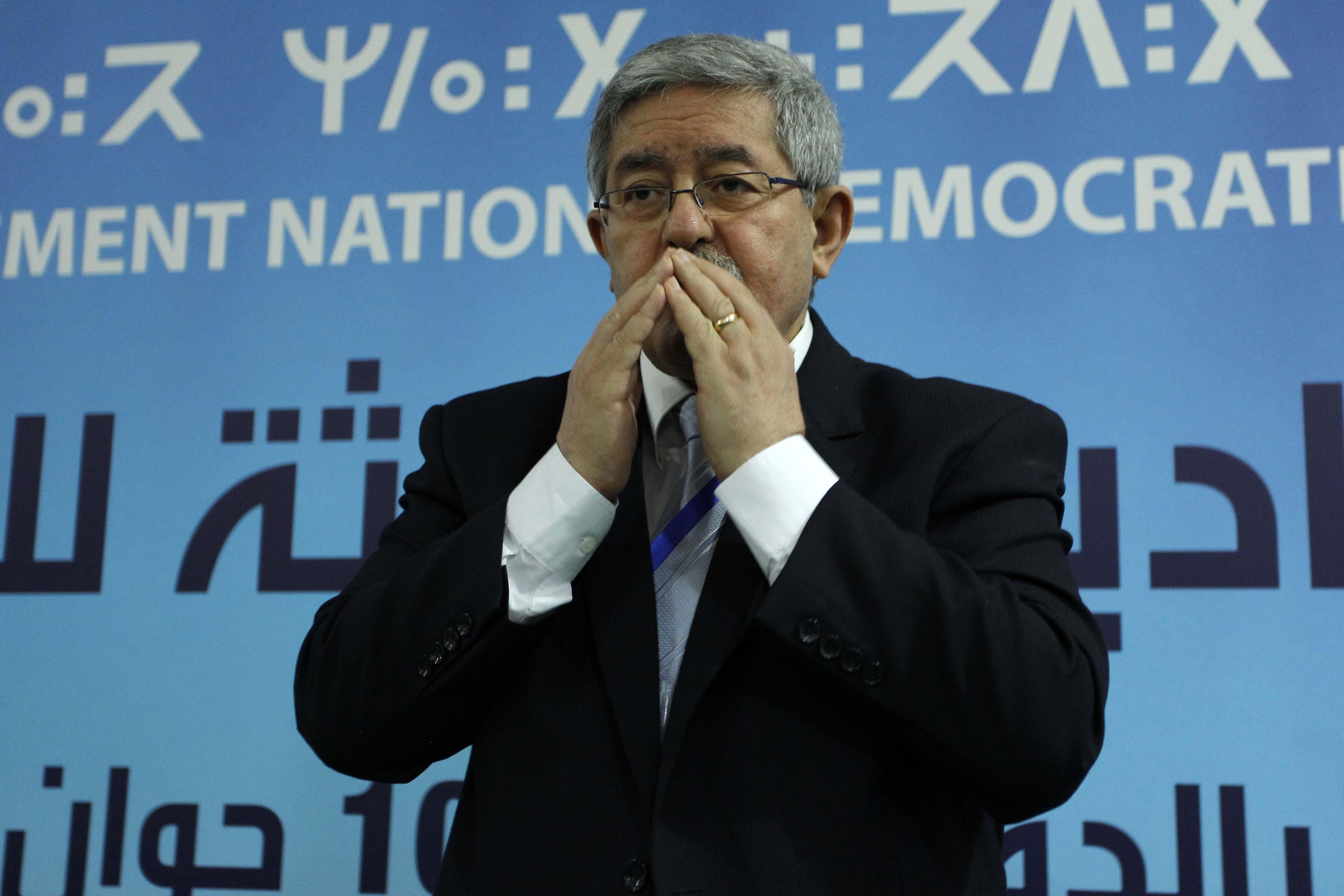 Ahmed Ouyahia, aujourd'hui, lors du conseil national du RND. New Press