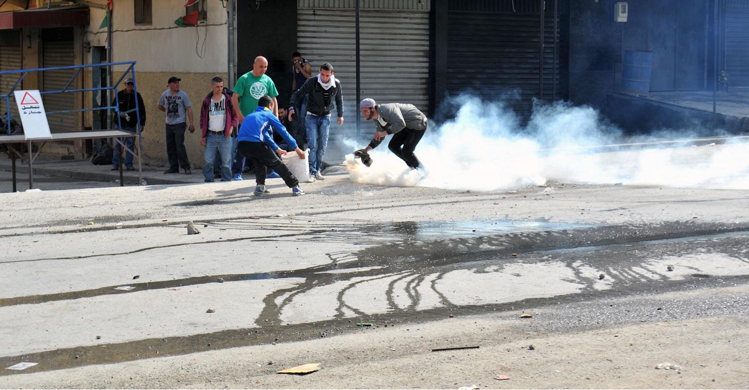 émeute, manifestation; Aokas, Béjaïa