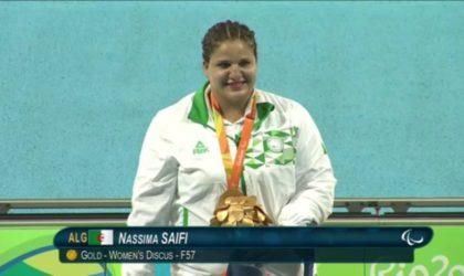 Championnats du monde handisports: l'or pour Nassima Saifi