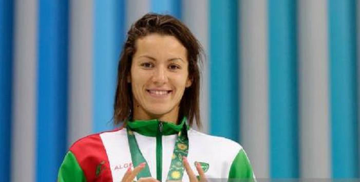 Souad Cherouati, unique nageuse algérienne à Budapest. D. R.