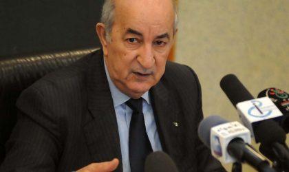 Tebboune préside un conseil interministériel