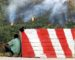 Des colonnes de fumée dégagées par l'incendie de Bouzaréah